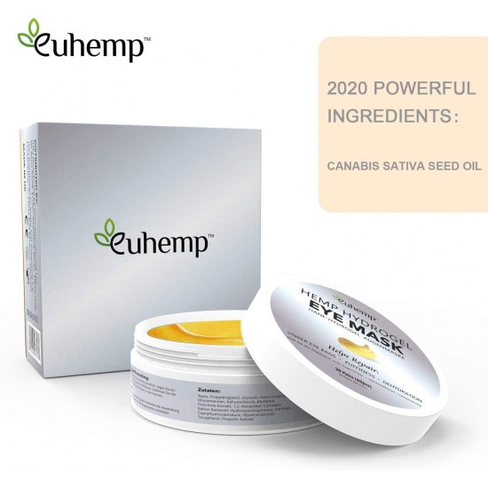 EUHEMP Eye Mask, Anti-Aging Under Eye Patches, 2020 Patent Formula, Made in UK