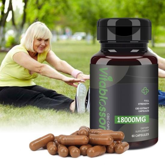 Vitablossom C-B-D 300mg/Capsule, 60 Capsules 18000mg 60% Powder Capsules, Made in New Zealand