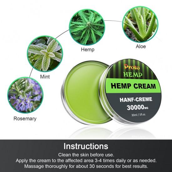 ProtoHemp anti-inflammatory hemp cream - pure hemp, 10% emu oil