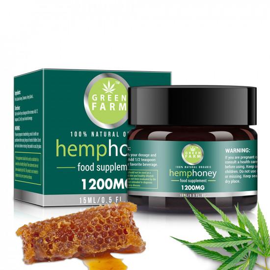 Green Farm Raw Hemp Honey, 1200mg 10% 15ml, New Arrival promotion
