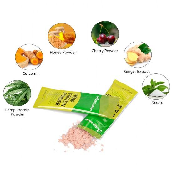 Vitablossom Hemp Protein Powder,  USDA Organic 100g (5g*20 sachets)