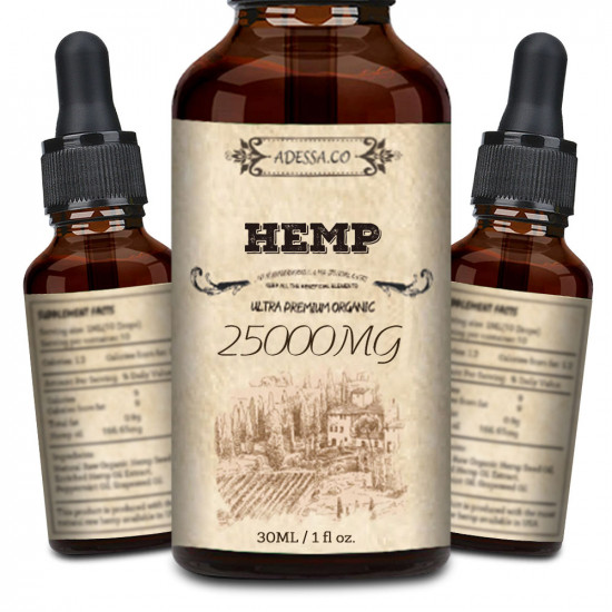 ADESSA.CO Hemp Oil 25000mg 83% 30ml, Made in Slovenia