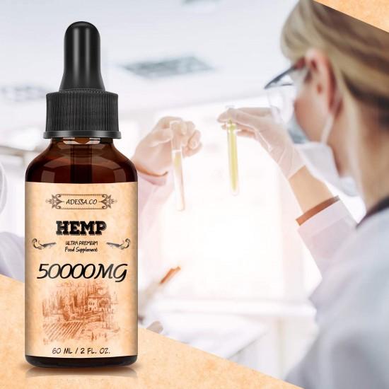 ADESSA.CO High Strength Hemp Extract 1000/mg /2000mg /5000mg /10000mg /30000mg, Broad Spectrum Extract Hemp Oil, Made in Slovenia