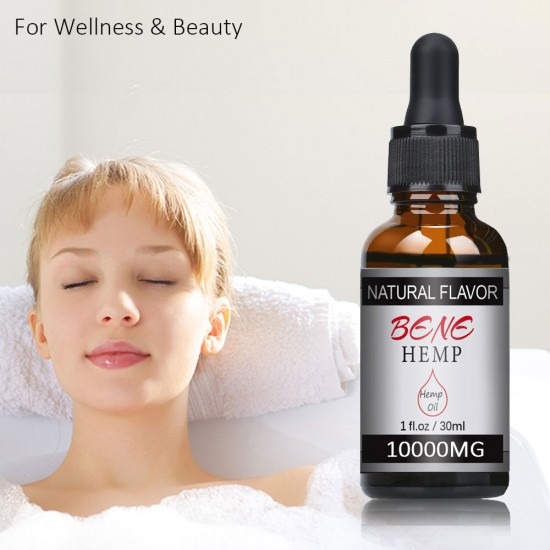 BENEHEMP 10000mg Original & Strawberry Flavor Hemp Oil Drops, Great for Anxiety Pain Relief Sleep Support