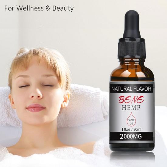 BENEHEMP Hemp Oil Drops, Broad Spectrum Extract Hemp Oil(2000mg)