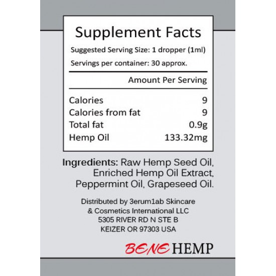BENEHEMP Hemp Oil Drops, Great for Anxiety Pain Relief Sleep Support(4000mg)