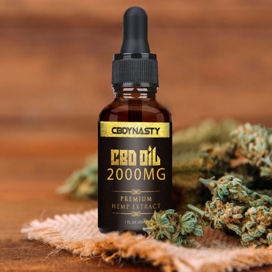 CB-DYNASTY  Broad Spectrum Extract Hemp Oil 2000mg, High Strength Hemp Extract, 30ml Made in USA