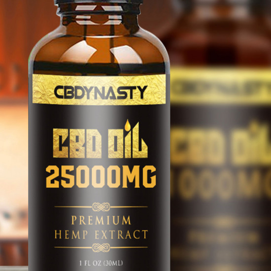 CB-DYNASTY Broad Spectrum Extract Hemp Oil 25000mg, High Strength Hemp Extract, 30ml Made in USA