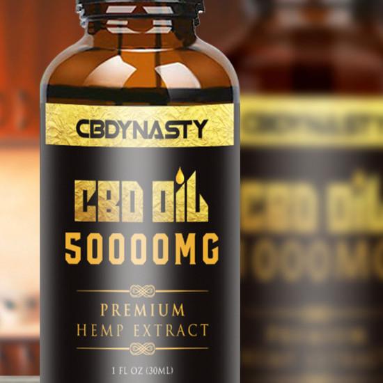 CBDYNASTY 50000mg 95% 30ml Hemp Oil, Immune booster