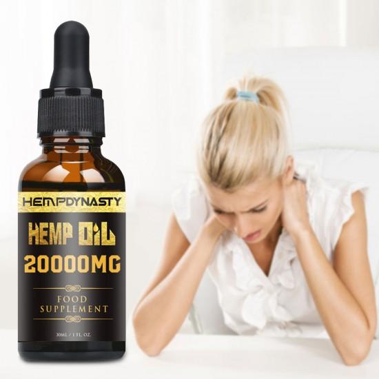 Hemp DYNASTY Broad Spectrum Extract Hemp Oil 20000mg, High Strength Hemp Extract, 30ml Made in USA