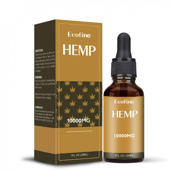 Ecofine 10000mg 30ml Broad Spectrum Hemp Oil, High Strength Extract Pure Organic Hemp Oil - Made in USA