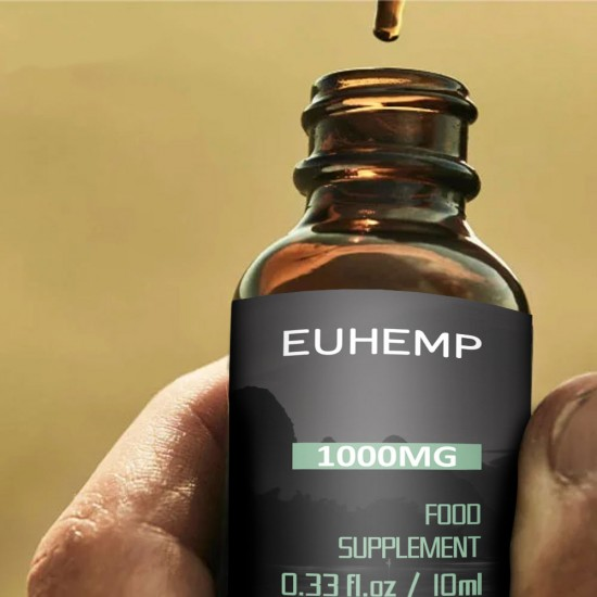 EUHEMP Hemp Oil Drops 1000MG, Made with Hemp Grown in Nature, 10 ML