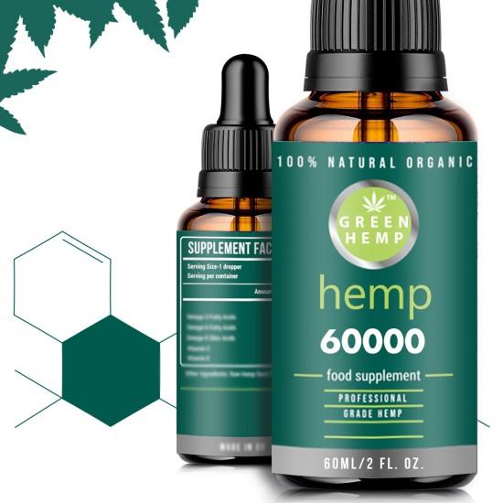 [Out of Stock in UK] GreenFarm Broad Spectrum Hemp Oil Drops, High Strength Hemp Extract(60000 mg)