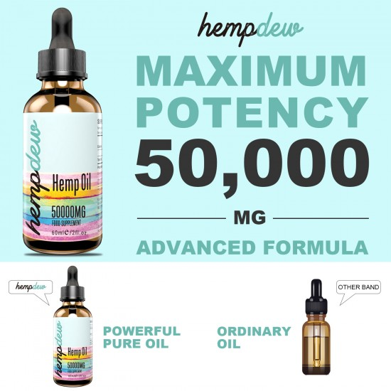 Hempdew Hemp Oil Drops 50000mg 60ml