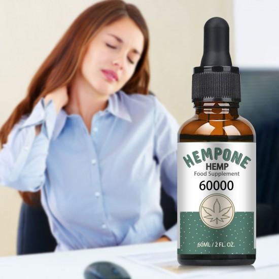 HEMPONE 60000mg Hemp Oil 60ml, High Strength Hemp Extract, Made in USA