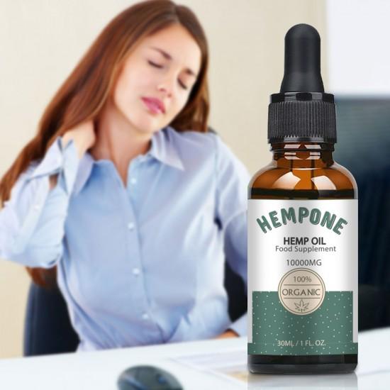 HEMPONE 10000mg Hemp Oil 30ml, High Strength Hemp Extract, Made in USA