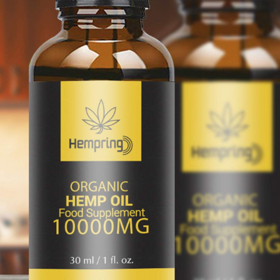 Hempring Broad Spectrum Hemp Extract 10000mg, Natural CO2 Extracted-100% Organic - Made in USA