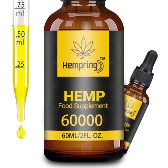 Hempring Broad Spectrum Hemp Extract 60000mg , Natural CO2 Extracted-100% Organic - Made in USA