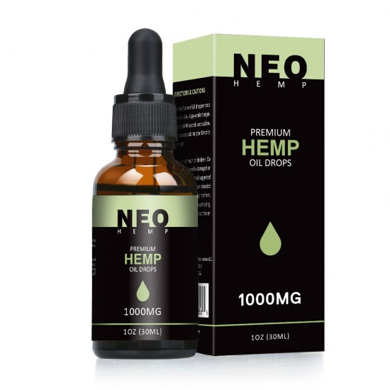 Full Spectrum Hemp Oil Drops, Help Reduce Stress, Anxiety and Pain (1000mg)  - NEOHEMP Oil