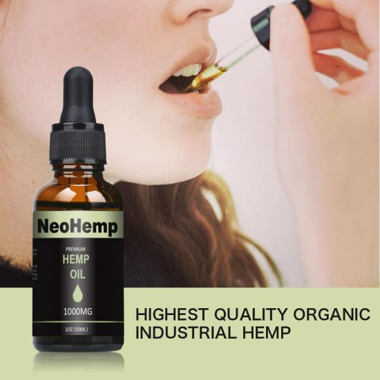 Broad Spectrum Hemp Oil Drops, Help Reduce Stress, Anxiety and Pain (1000mg) - NEOHEMP Oil