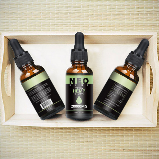 NeoHemp Hemp Oil Drops 20000mg 30ml, Help Reduce Stress, Anxiety and Pain(20000mg)