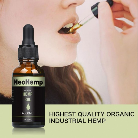 NeoHemp Hemp Oil Drops 4000mg 30ml, Help Reduce Stress, Anxiety and  Pain(4000mg)