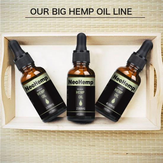 NeoHemp Hemp Oil Drops 7500mg 30ml, Help Reduce Stress, Anxiety and Pain(7500mg)