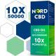 Nord Oil C-B-D oil Drops, 50000mg 83% 60ml, 2020 New formula
