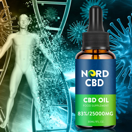 Nord Oil C-B-D oil Drops, 25000mg 83% 30ml, 2020 New formula