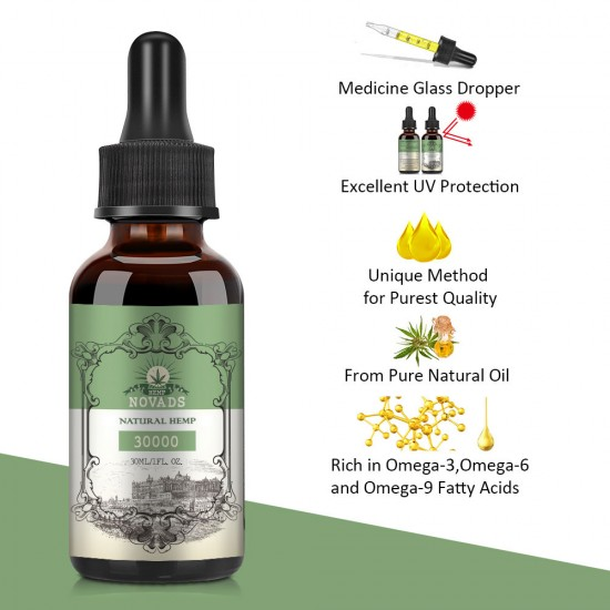 Novads Hemp oil Drops, 15000mg 30ml