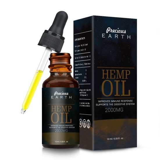 Precious Earth 2000mg, Broad Spectrum Hemp Oil Extract, Premium Organic Extracts, Made in USA