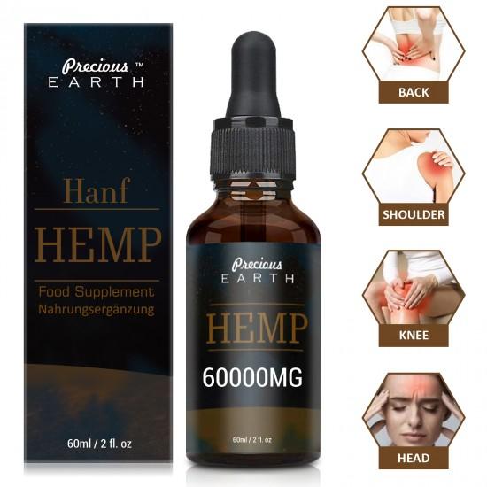 Precious Earth 60000mg 60ml, Broad Spectrum Hemp Oil Extract, Premium Organic Extracts