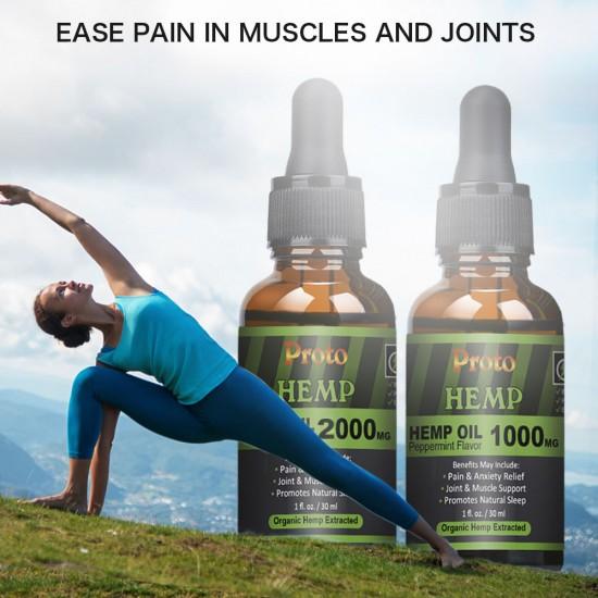 Hemp Oil Drops, Vegan & Vegetarian 1000mg, 30ml - ProtoHemp Oil