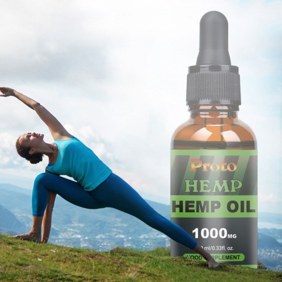 Proto Hemp Oil Drops, Vegan & Vegetarian 1000mg, 10ml