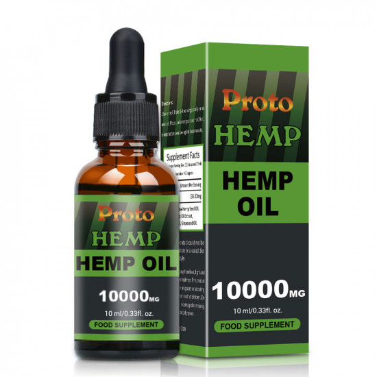 Hemp Oil Drops, Vegan & Vegetarian 10000mg, 10ml - ProtoHemp Oil
