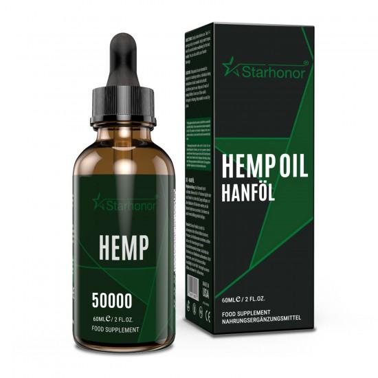 Starhonor Hemp Oil 50000mg/60000mg/80000mg/100000mg 60ml, High Strength Hemp Extract, Made in USA
