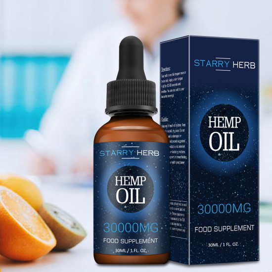 Starry Herb 30000mg , Broad Spectrum Hemp Oil Extract, Premium Organic Extracts, Made in USA