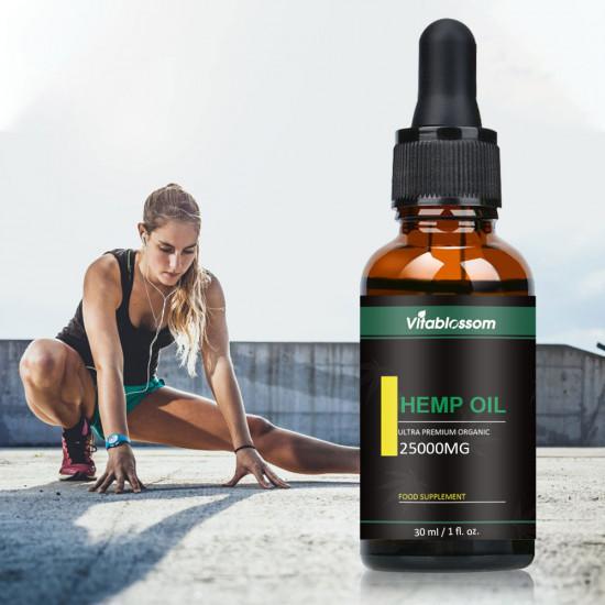 Vitablossom Hemp Oil Drops, 25000mg 30ml, Buy one get one free (2Pcs)