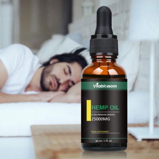 Vitablossom Hemp Oil Drops, 25000mg 83% 30ml, 2020 New formula