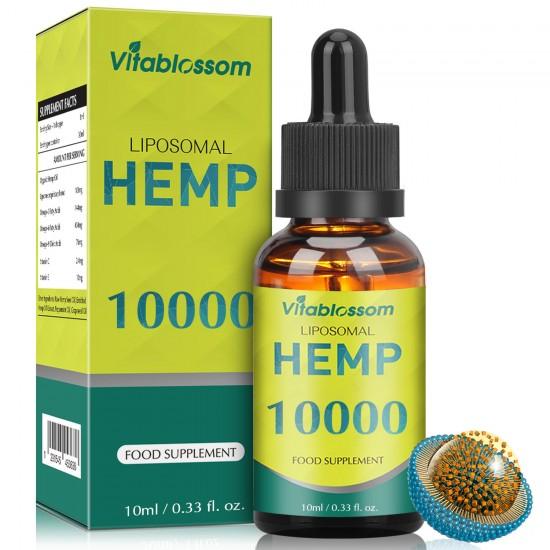 Vitablossom Liposomal Hemp Oil, 10000mg/10ml, 30000mg/30ml, 60000mg/60ml