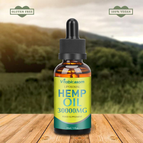 Vitablossom Liposomal Hemp Oil, 30000mg 90% 30ml, New Arrival promotion