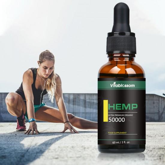 Vitablossom Hemp Oil Drops 50000mg 60ml