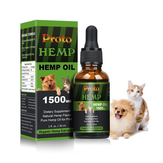 Full Spectrum Hemp oil for Pets, ProtoHemp Hemp oil for Dogs 1500mg, Great  for Pain Relief