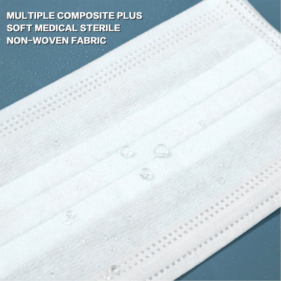 HID MED Disposable Face Masks 3 Ply, Great for Virus COVID-19 Protection and Personal Health (50 pcs)